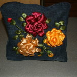 Satin Ribbon Emboidered Roses