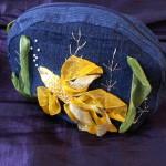 Gold fish make-up bag